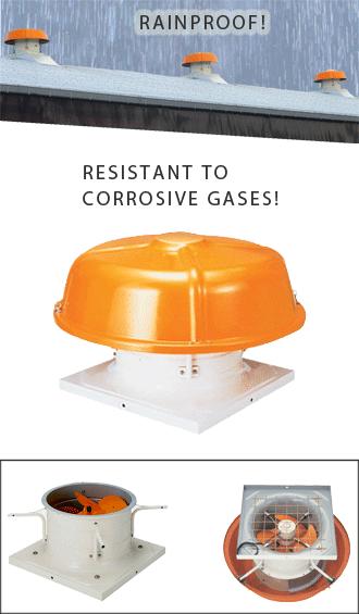 Suiden Industrial Pressure Ventilation Fans Corrosion