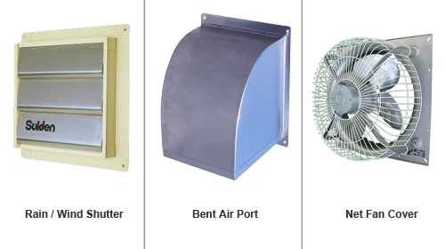 Suiden Industrial Pressure Ventilation Wall Fans Accessories | Wind
