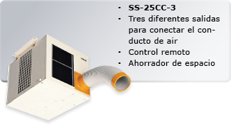 Aire acondicionado portátil de dos cond.